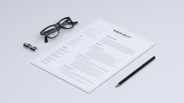 Briefpapier mockup met a4-indeling