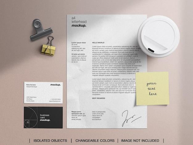 Briefpapier moodboard mockup scene creator collage set