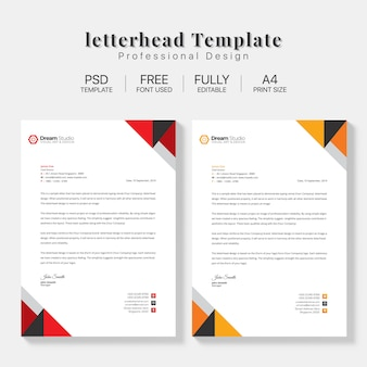 Briefpapier template set