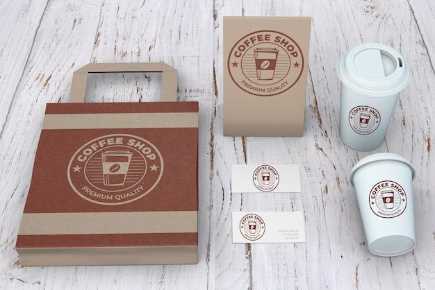 Briefpapiermodel voor koffiewinkel
