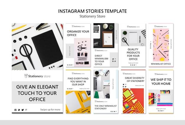 Briefpapierwinkel instagram verhalen sjabloon