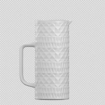 Brocca isometrica 3d rendering