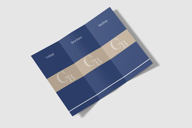 Brochure a tre ante mockup