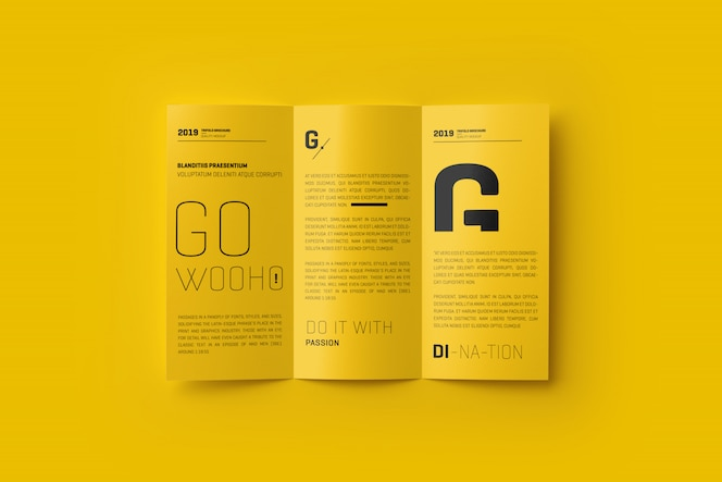 Brochure A4 Trifold Mockup