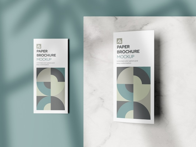 Brochure aziendale a tre ante mockup psd