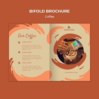 Brochure bifold concept caffè