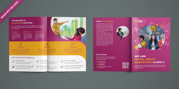 Brochure bifold per il marketing sui social media