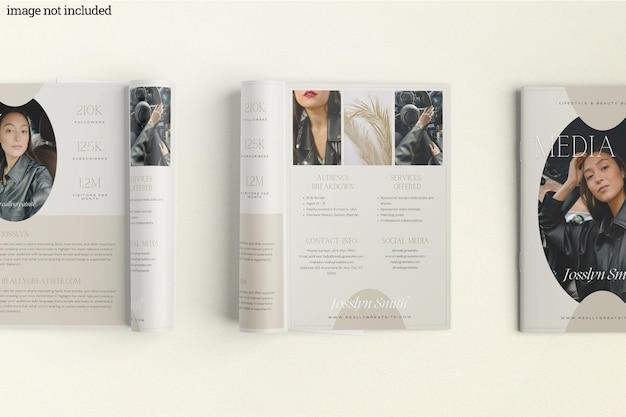 Brochure catalogus mockup