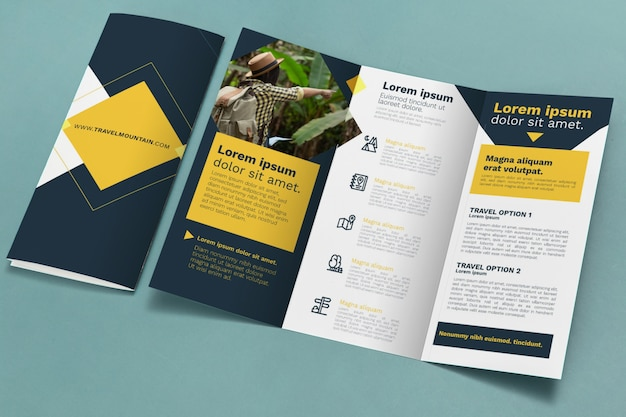 Brochure concept mock-up