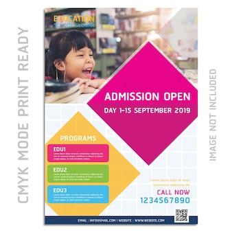 Brochure di educazione flyer design