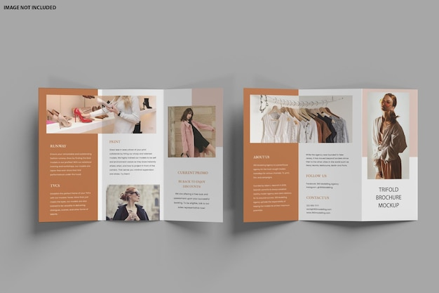 Brochure driebladige mockup ontwerp geïsoleerd
