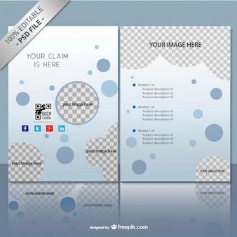 Brochure mock up template gratuiti psd