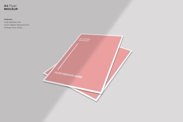 Brochure mockup in minimalistische stijl