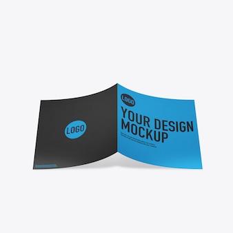 Brochure mockup su spazio bianco