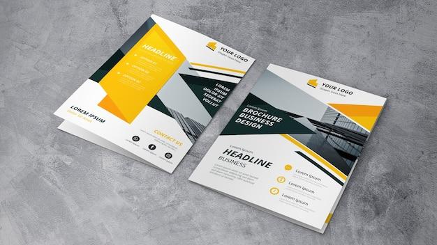 Brochure mockup van twee