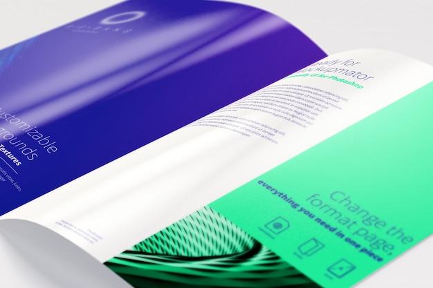 Brochure open bi fold mockup