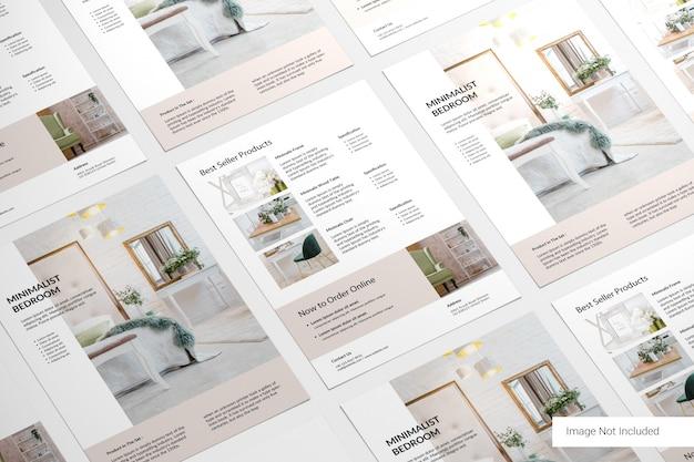 Brochure patroon
