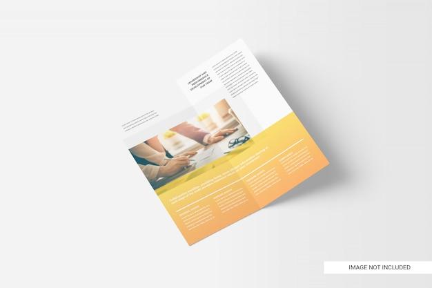 Brochure pieghevole bi-pieghevole dl