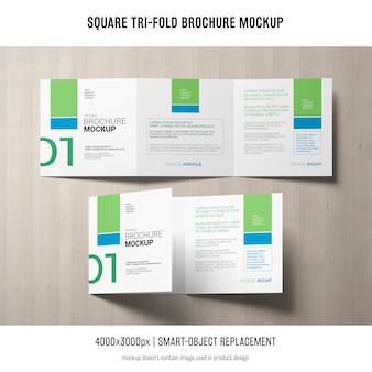 Brochure quadrata pieghevole