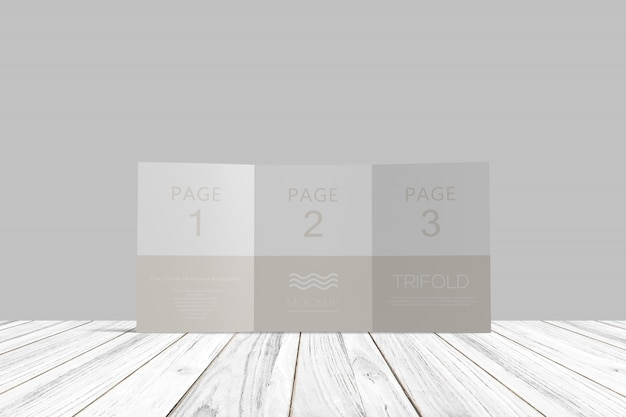 Brochure ripiegabile mockup di psd