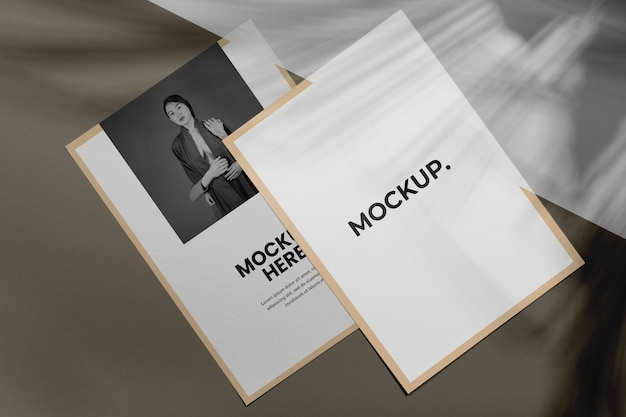 Brochure schaduw overlay mock up