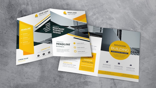 Brochure showroom mockup