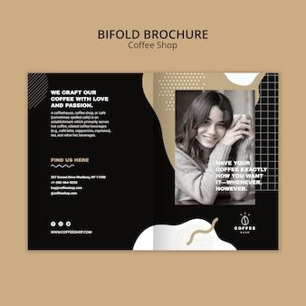 Brochure sjabloon concept voor coffeeshop