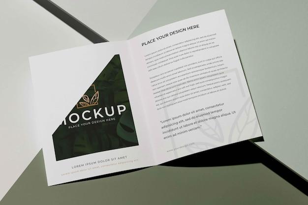 Brochure studio ontwerp mockup