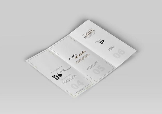 Brochure tri-fold mock-up
