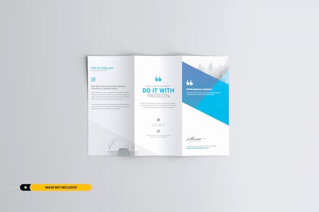 Brochure trifold mockup