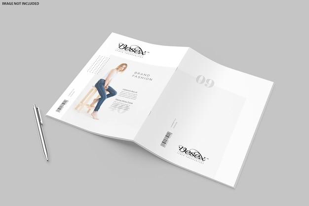 Brochure tweevoudig mockup-ontwerp
