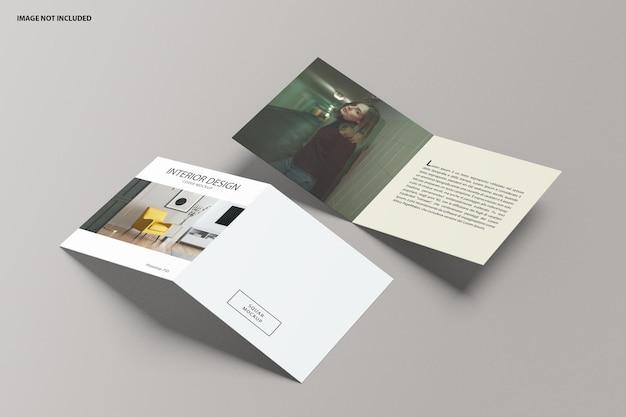 Brochure vierkant tweevoudig model