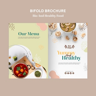 Brochuremalplaatje met gezond voedselconcept