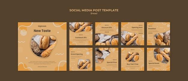 Brood concept sociale media postsjabloon