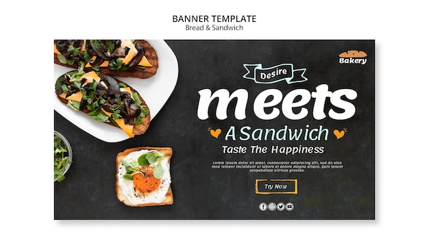 Brood en sandwich banner concept