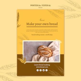 Brood maken posterontwerp