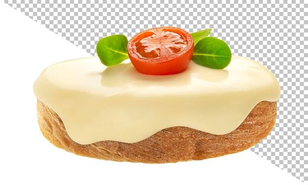 Brood met roomkaas geïsoleerd