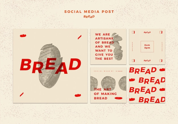 Brood social media postsjabloon