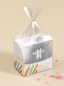 Broodverpakking plastic mockup