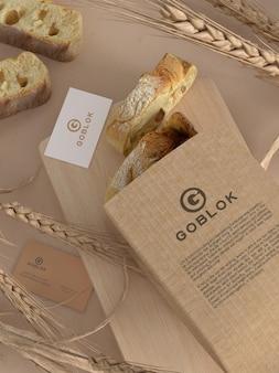 Broodverpakkingsmodel met visitekaartje