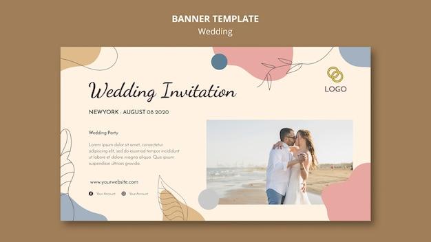 Bruiloft banner sjabloon stijl