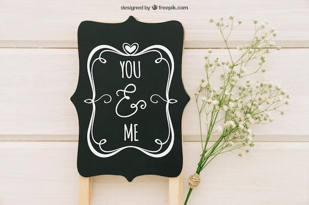 Bruiloft bdge en boeket bloemen