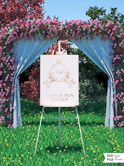 Bruiloft bruids banner mockup