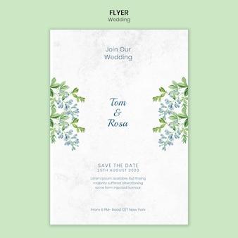 Bruiloft concept flyer sjabloon