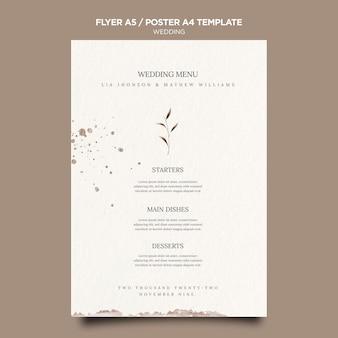 Bruiloft evenement poster sjabloon