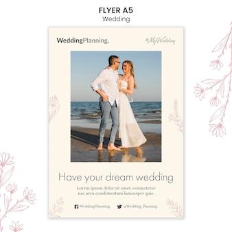Bruiloft flyer sjabloon