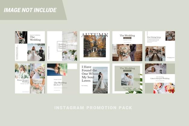 Bruiloft instagram post grafische sjabloon