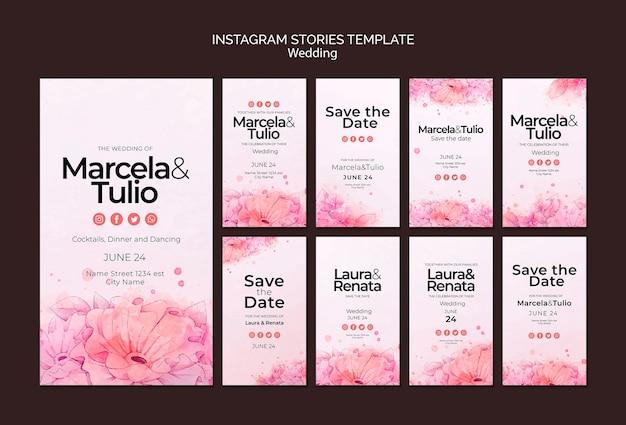 Bruiloft isntagram verhalen sjabloon thema