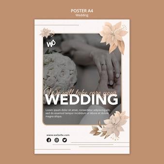 Bruiloft organisator poster sjabloon