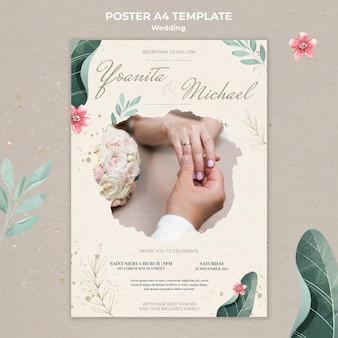 Bruiloft poster sjabloon